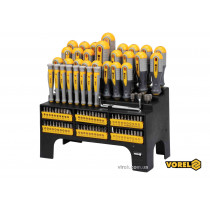 Набор отверток и отверточных насадок VOREL Cr-V 100 шт