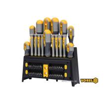 Набор отверток и отверточных насадок VOREL Cr-V 50 шт