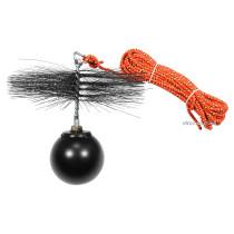 Набір для очищення димарів VOREL : шнур Ø= 8 мм, l= 10 м; йорж Ø= 250 мм; гиря- 2.5 кг