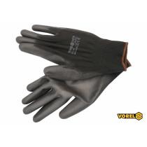 Перчатки рабочие черные VOREL полиэстер покрытый полиуретаном размер 9