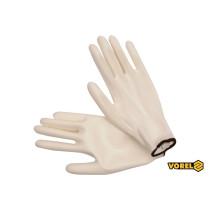 Перчатки рабочие белые VOREL полиэстер покрытый полиуретаном размер 10