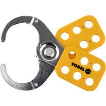 Зажим пружинный стальной VOREL Ø6 x 48 мм для 6 навесных замков с дугой Ø≤ 10 мм