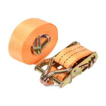Ремінь для кріплення багажу з тріщаткою VOREL, сила натягу- 100/200 кгс, 4 м х 38 мм, 2 шт.