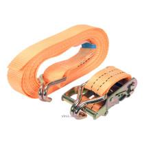 Ремінь для кріплення багажу з тріщаткою VOREL, сила натягу- 100/200 кгс, 6 м х 38 мм, 2 шт.