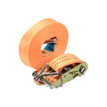 Ремінь для кріплення багажу з тріщаткою VOREL, сила натягу- 100/200 кгс, 8 м х 38 мм, 2 шт.