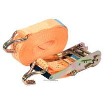 Ремінь для кріплення багажу з тріщаткою VOREL, сила натягу- 150/300 кгс, 10 м х 50 мм, 2 шт.