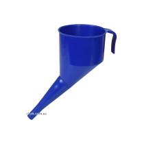Лійка синя VOREL : висота- 160 мм, зовн. і вн. діаметр- 130x120 мм, довжина- 144 мм