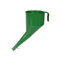 Лійка зелена VOREL : висота- 160 мм, зовн. і вн. діаметр- 130x120 мм, довжина- 144 мм