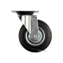 Колесо для тележки с вращающейся опорой VOREL Ø125 x 34 x 155 мм 100 кг