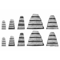Клинья для молотков VOREL 28 x 32, 25 x 21, 25 x 12, 18 x 10, 17 x 8 мм 10 шт