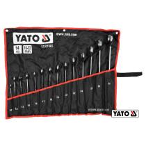 Набор рожково-накидных ключей YATO 10-32 мм 14 шт