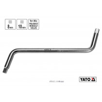 Ключ двусторонний для сливной пробки YATO 8 x 10 мм