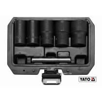 """Набор экстракторов для сломанных винтов YATO 1/2"""" 17-27 мм 6 шт"""