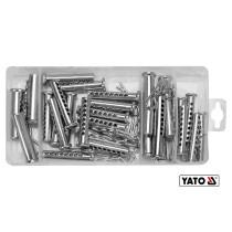 Набор шплинтов и штифтов YATO 8-13 мм 30-64 мм 56 шт