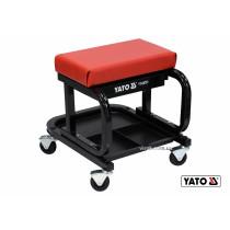 Табурет на колесах YATO с шухлядой 440 x 360 x 390 мм 150 кг