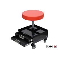 Табурет на колесах YATO с 3 шухлядами 380 x 380 x 450-560 мм 150 кг