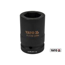 "Головка торцевая ударная шестигранная YATO 1"" М33 x 80 мм Cr-Mo"