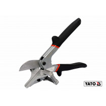 Ножиці для пластику, гуми, вінілу YATO 245 мм, для різання під кутом 22.5° і 45°, CrV