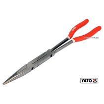 Щипцы прямые удлиненные с 2 шарнирами YATO 340 мм HRC 50 Cr-V