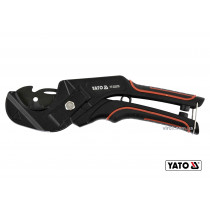 Труборез для ПВХ труб YATO Ø36 мм алюминиевый корпус ручка- ABS + TPR