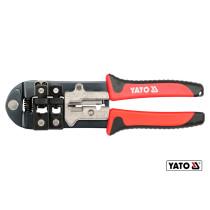 Клещи для соединения наконечников RJ-45/RJ-11/RJ-12 и очистки проводов YATO 215 мм