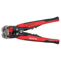 Кліщі для обтискання і зачищення проводів YATO, l= 205 мм [5/30]