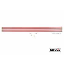 Протягиватели кабелей стекловолоконные YATO 10 шт x 1 м + гибкий удлинитель + крючок + 2 наконечника 14 шт