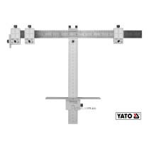 Шаблон для разметки отверстий Т-образный YATO 250 мм + чехол