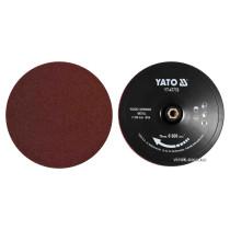 Круг шліфувальний YATO на липучку : Ø= 230 мм, гайка М14, + 4 круги по дереву і 4 круги по металу
