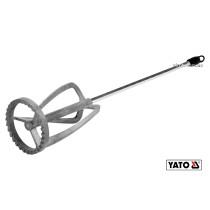 Миксер для краски и клея оцинкованный YATO Ø100 x 500 мм HEX 10-20 кг