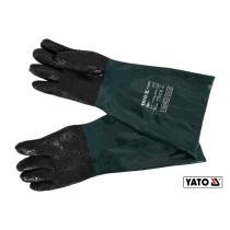 Перчатки рабочие для пескоструйных работ YATO