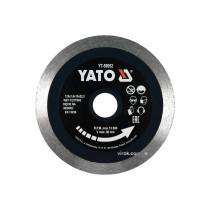 Диск отрезной алмазный по керамограниту, стеклу, керамике для мокрой резки YATO 125 x 1.6 x 10 x 22.2 мм