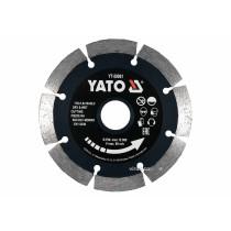Диск відрізний алмазний по каменю і бетону YATO Ø=115x1.8x10x22.2 мм, в мокрому і сухому режимі