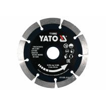 Диск відрізний алмазний по каменю і бетону YATO Ø=125x2x10x22.2 мм, в мокрому і сухому режимі