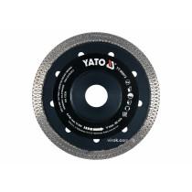 Диск відрізний алмазний по гресу, склу, кераміці YATO Ø=125x1.6x10x22.2 мм, в сухому режимі