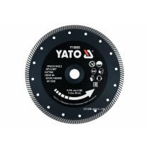 """Диск відрізний алмазний по гресу і кераміці """"TURBO"""" YATO Ø=230x2x10x22.2 мм, в мокрому режимі"""