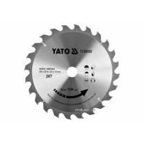 Диск пиляльний победітовий по дереву YATO: 235x25.4x2.8x1.8 мм, 24 зубці, R.P.M до 7000 1/хв