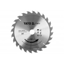 Диск пиляльний победітовий по дереву YATO: 255x30x3.0x2.0 мм, 24 зубці, R.P.M до 6000 1/хв
