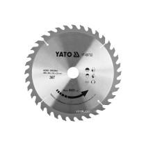 Диск пиляльний победітовий по дереву YATO: 255x30x3.0x2.0 мм, 36 зубців, R.P.M до 6000 1/хв