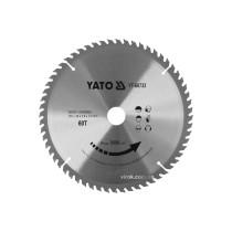 Диск пиляльний победітовий по дереву YATO: 255x30x3.0x2.0 мм, 60 зубців, R.P.M до 6000 1/хв