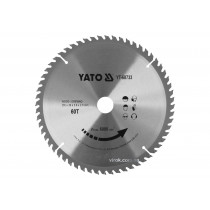 Диск пильный по дереву YATO 255 x 30 x 3 x 2 мм 60 зубцов R.P.M до 6000 1/мин