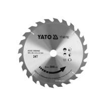 Диск пиляльний победітовий по дереву YATO: 305x30x3.2x2.2 мм, 24 зубці, R.P.M до 5000 1/хв