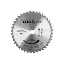 Диск пиляльний победітовий по дереву YATO: 305x30x3.2x2.2 мм, 40 зубців, R.P.M до 5000 1/хв
