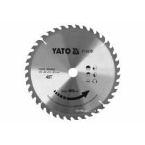 Диск пиляльний победітовий по дереву YATO: 315x30x3.2x2.2 мм, 40 зубців, R.P.M до 4900 1/хв