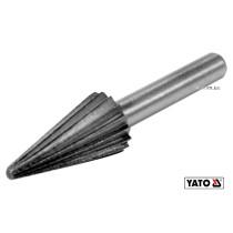 Фреза конусная по металлу YATO Ø13 x 25/55 мм HSS 4241 хвостовик- Ø6 мм