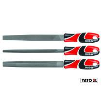 Набор напильников по металлу YATO 250 мм #2 3 шт