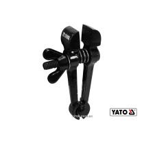 Ручные тиски стальные YATO 125 мм губки- 25 мм развод губок- 25 мм