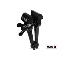 Ручные тиски стальные YATO 145 мм губки- 40 мм развод губок- 27 мм