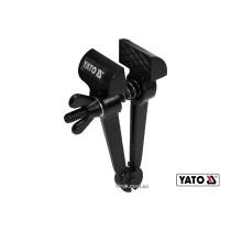 Ручные тиски стальные YATO 165 мм губки- 50 мм развод губок- 32 мм