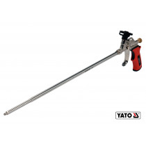 Пистолет для монтажной пены с удлиненным соплом YATO 500 мм алюминиевый